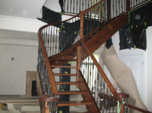 refinishing-a-staircase